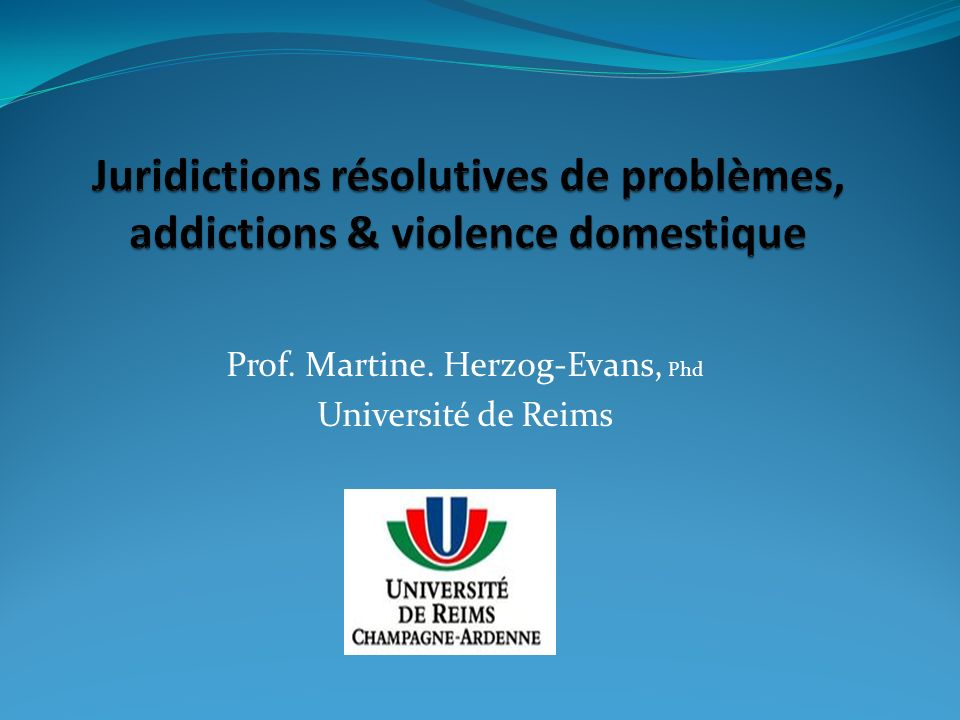 Prof. Martine. Herzog-Evans, Phd Université de Reims
