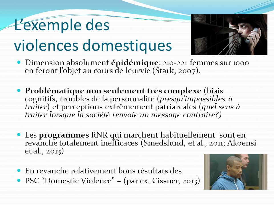 L'exemple des violences domestiques
