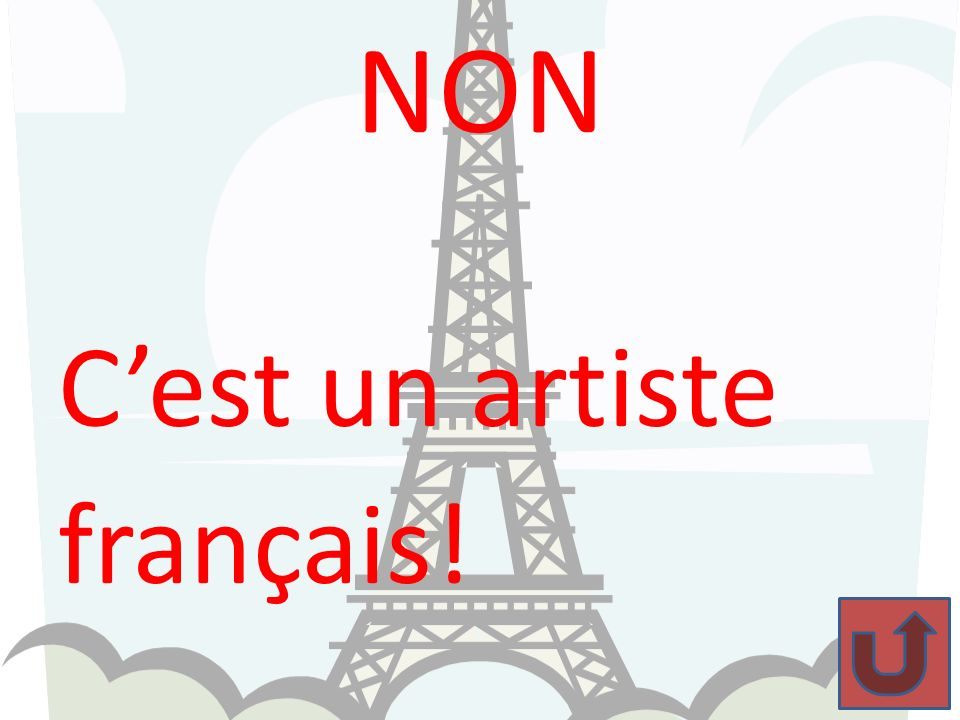 NON C'est un artiste français!