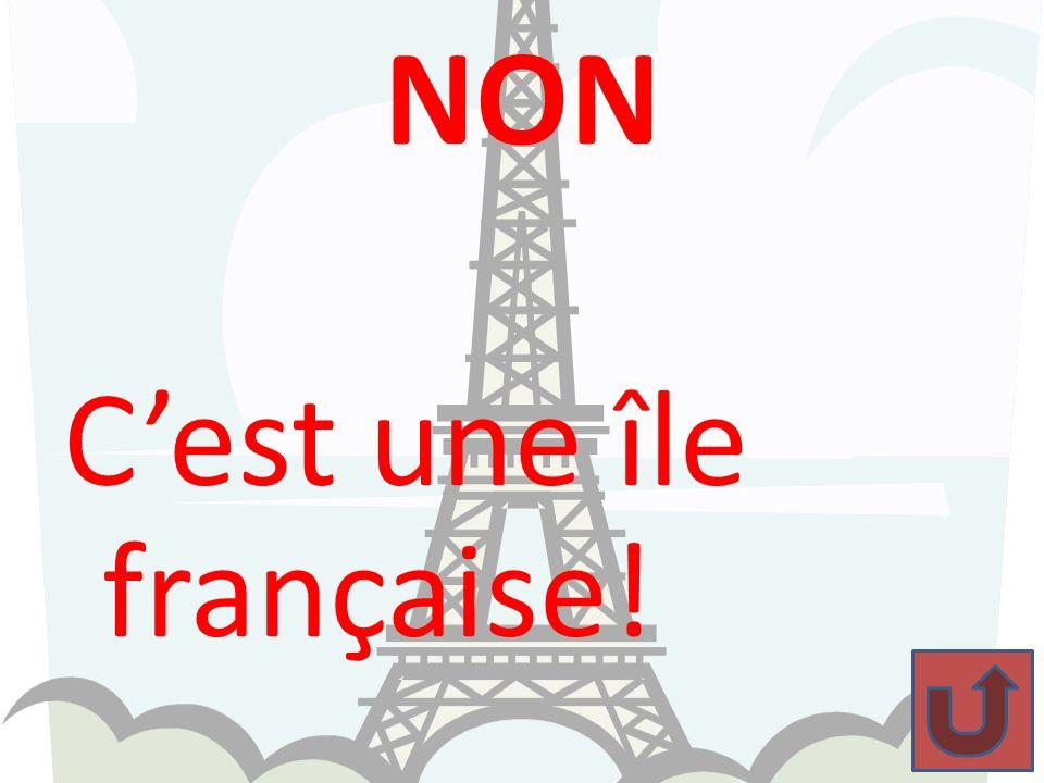 NON C'est une île française!