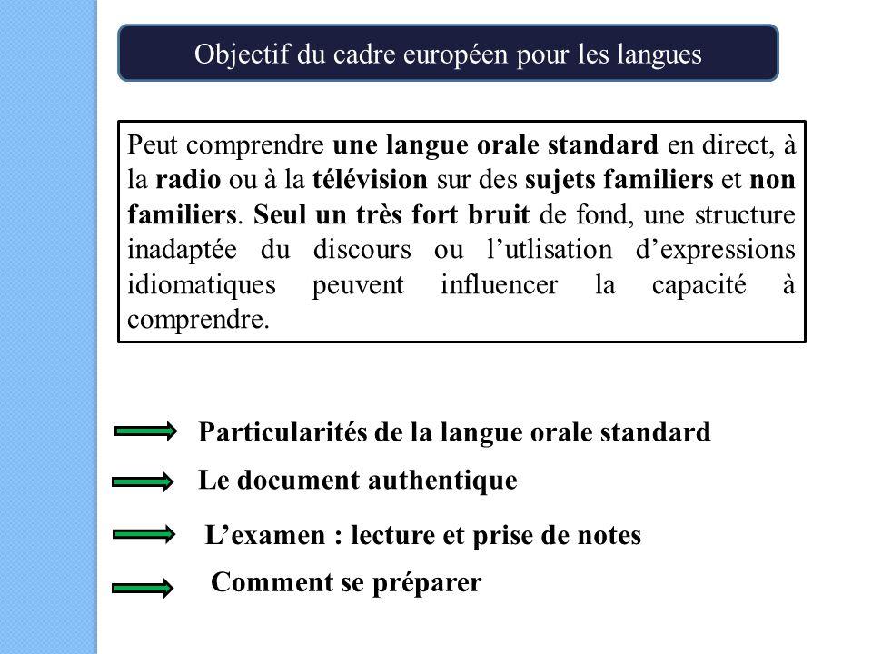 Objectif du cadre européen pour les langues