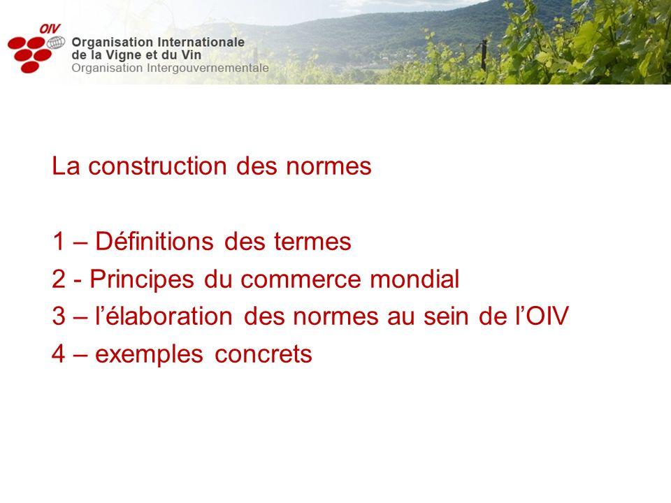 La construction des normes