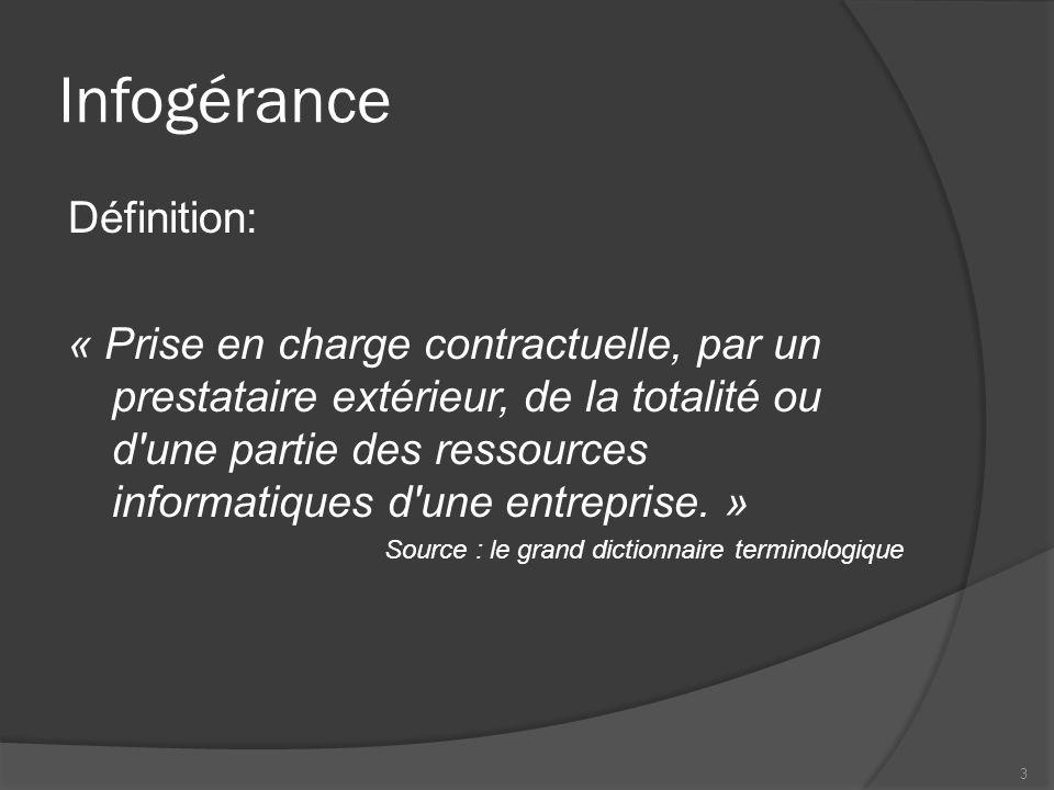 Infogérance Définition: