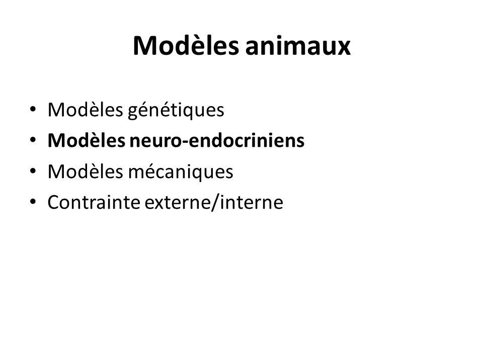 Modèles animaux Modèles génétiques Modèles neuro-endocriniens