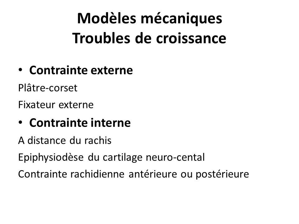 Modèles mécaniques Troubles de croissance