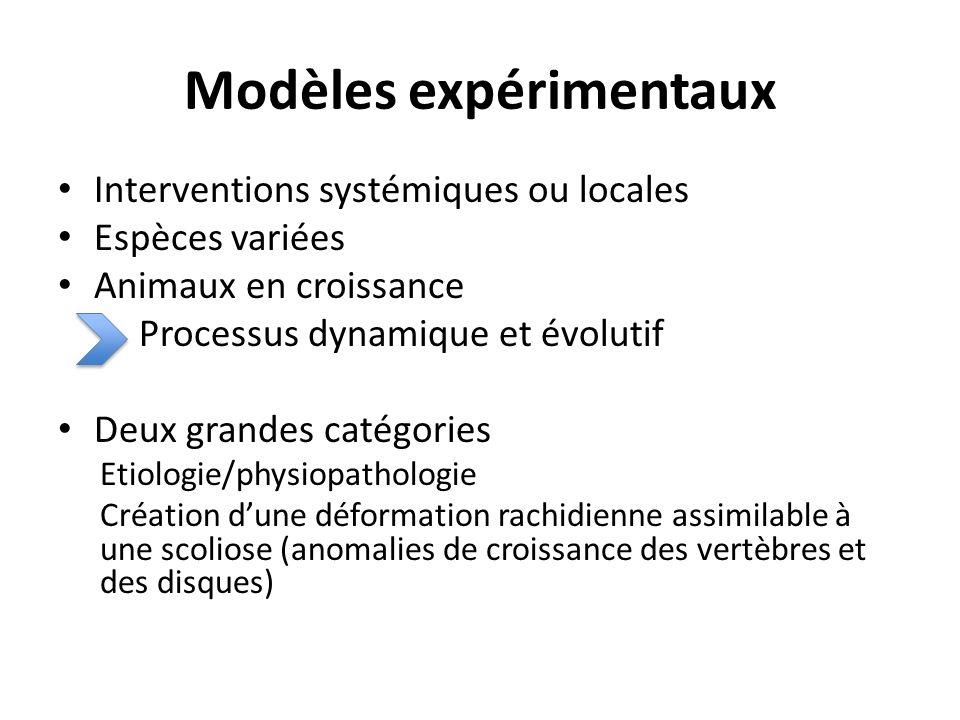 Modèles expérimentaux