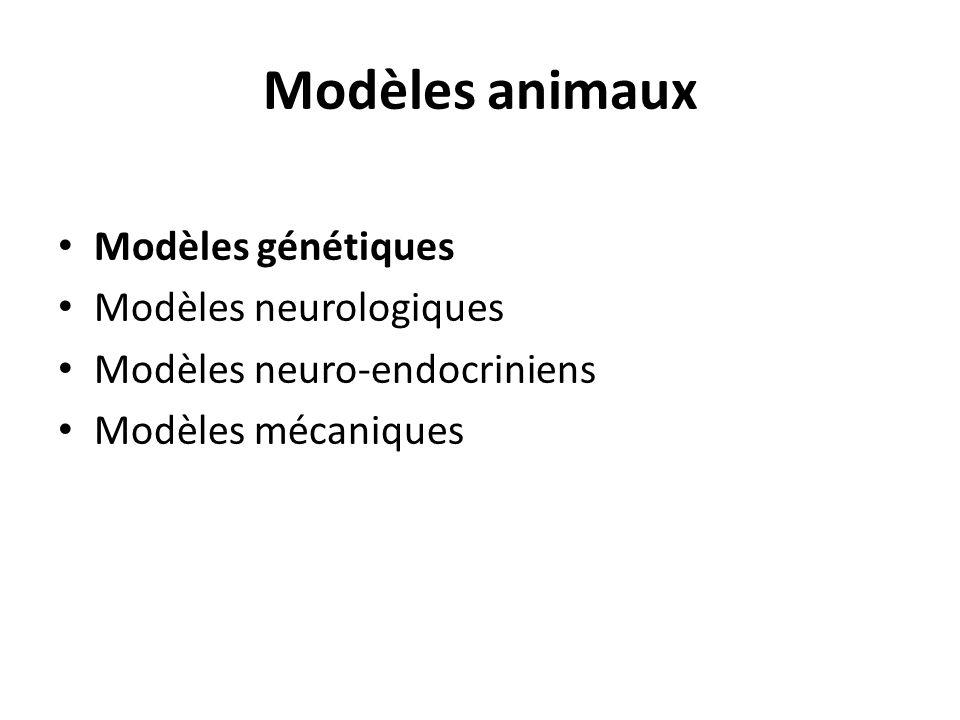 Modèles animaux Modèles génétiques Modèles neurologiques