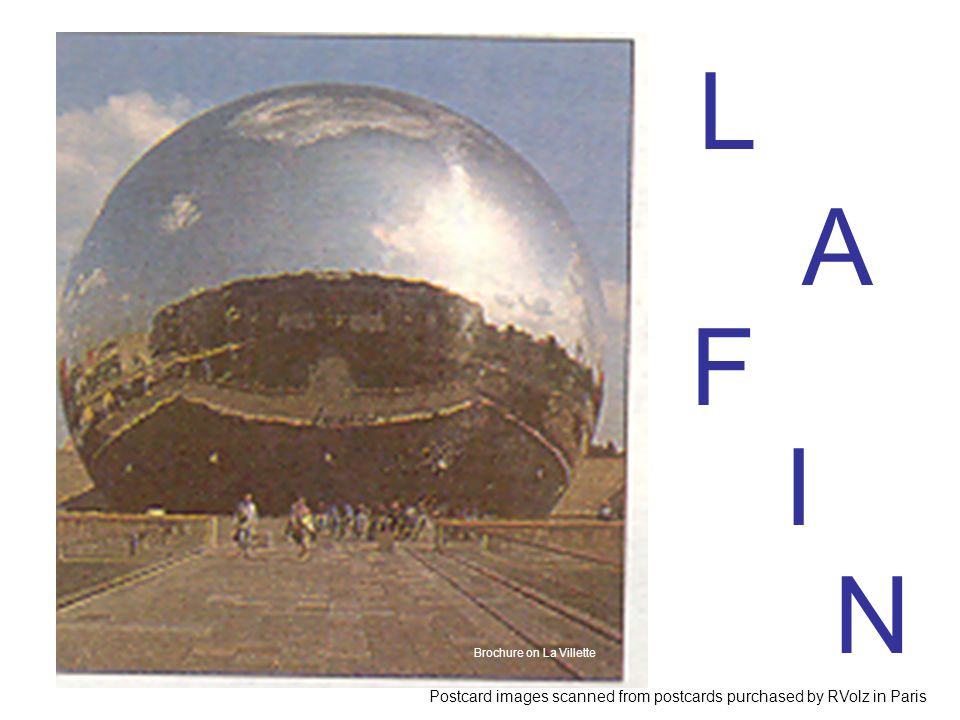 L A. F. I. N. Brochure on La Villette.