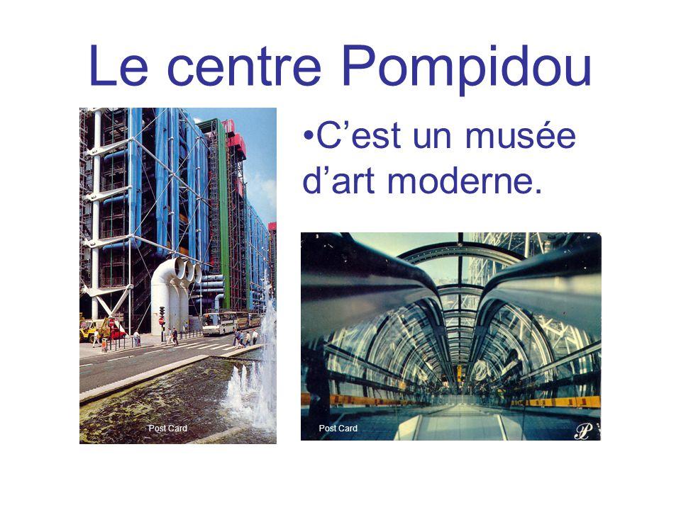 Le centre Pompidou C'est un musée d'art moderne. Post Card Post Card