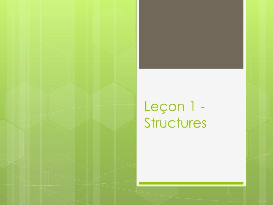 Leçon 1 - Structures