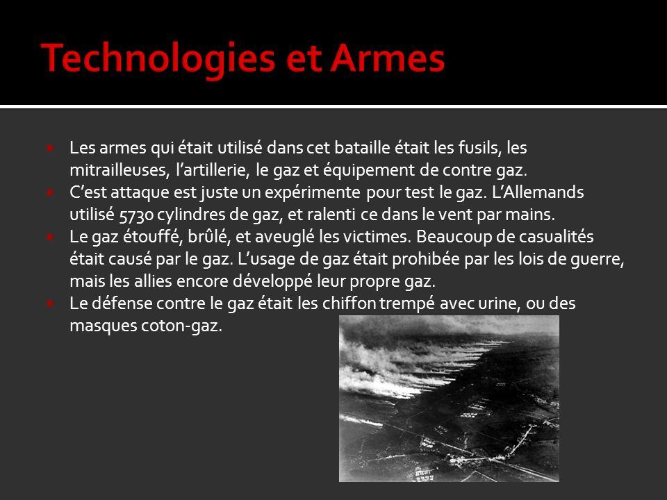 Technologies et Armes