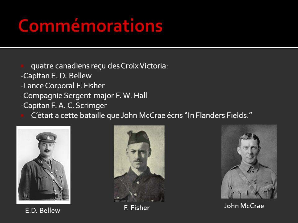 Commémorations quatre canadiens reçu des Croix Victoria: