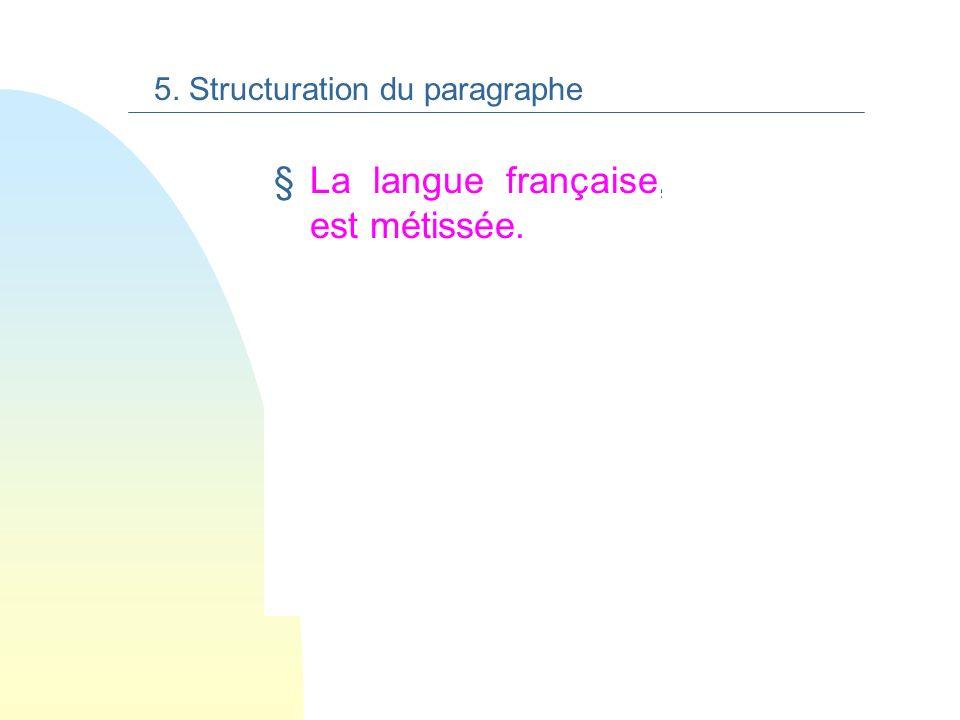 La langue française, par ailleurs, est métissée.