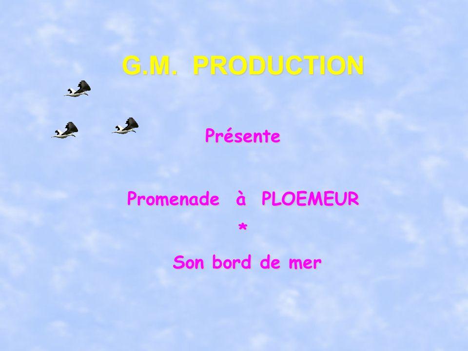 G.M. PRODUCTION Présente Promenade à PLOEMEUR * Son bord de mer