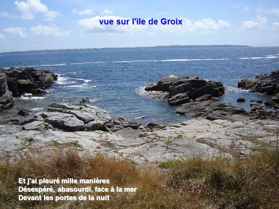 vue sur l ile de Groix Et j ai pleuré mille manières