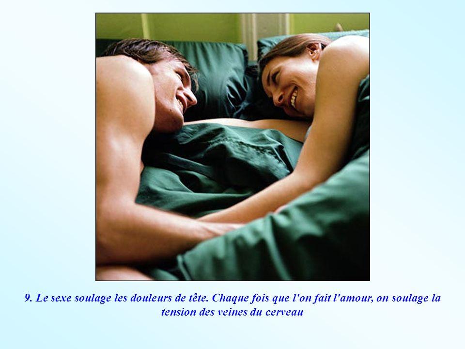 9. Le sexe soulage les douleurs de tête