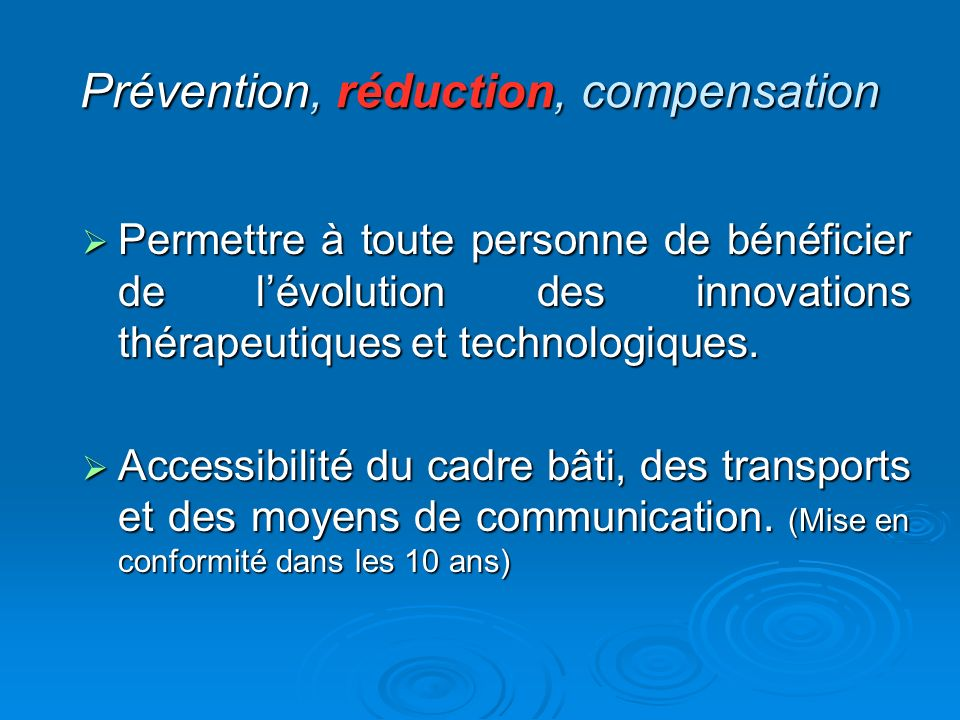Prévention, réduction, compensation