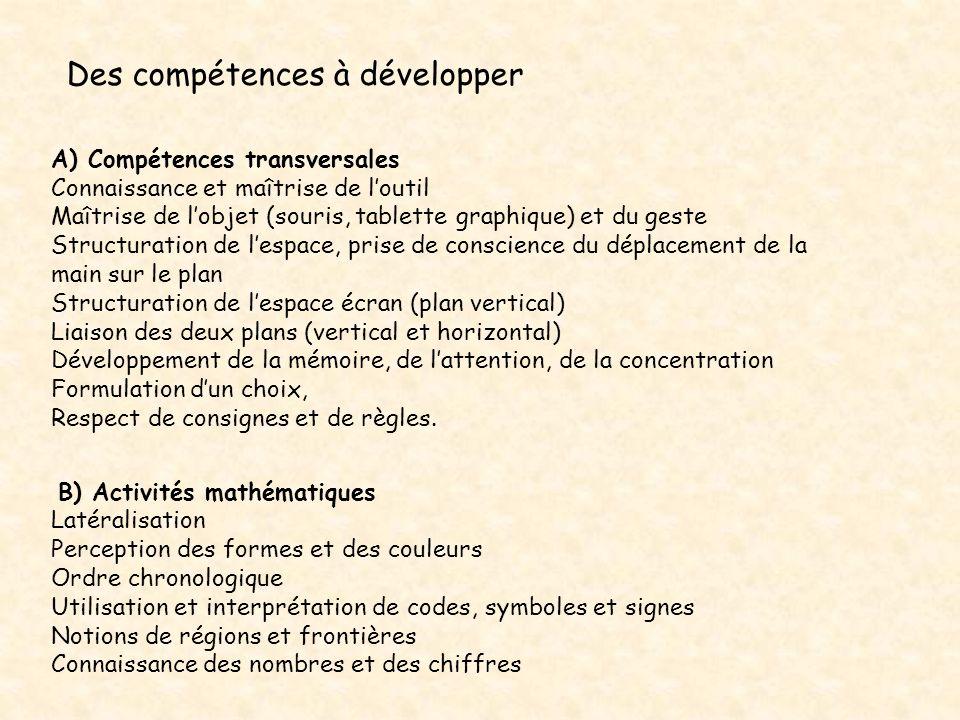 Des compétences à développer