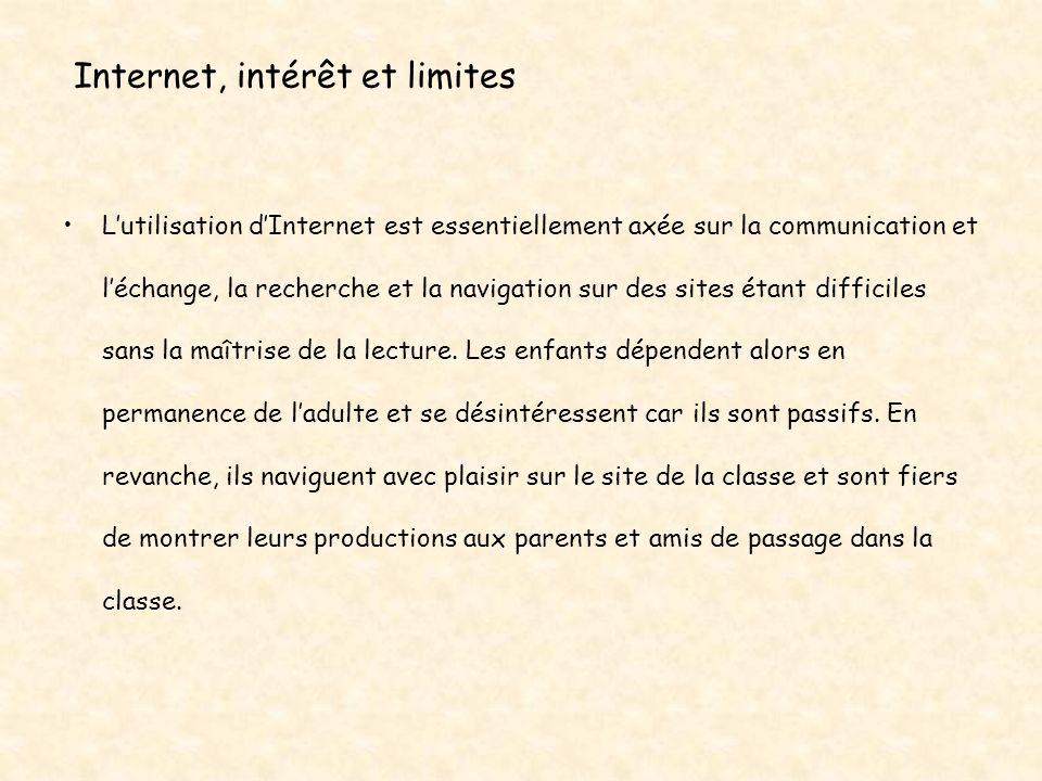 Internet, intérêt et limites