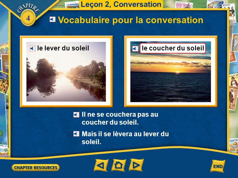 Vocabulaire pour la conversation