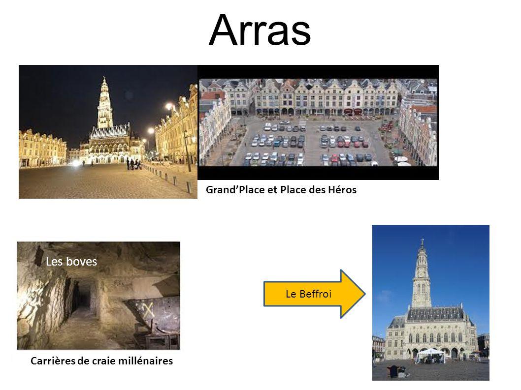 Arras Les boves Grand'Place et Place des Héros Le Beffroi