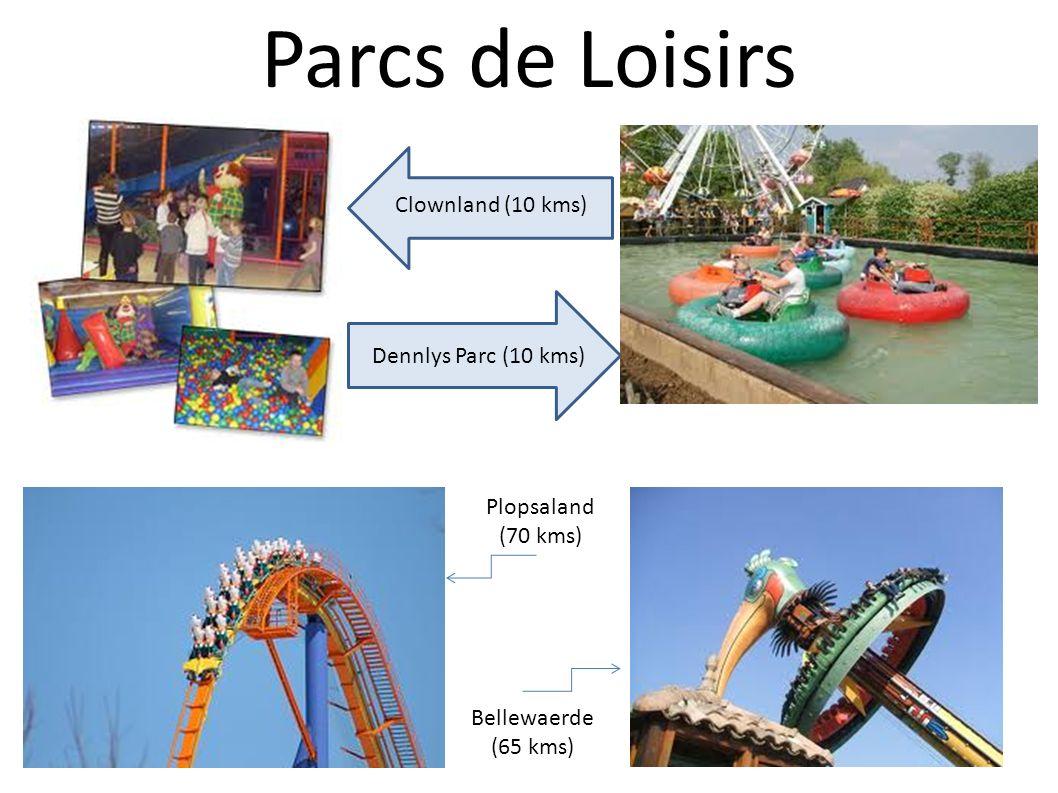 Parcs de Loisirs Clownland (10 kms) Dennlys Parc (10 kms)
