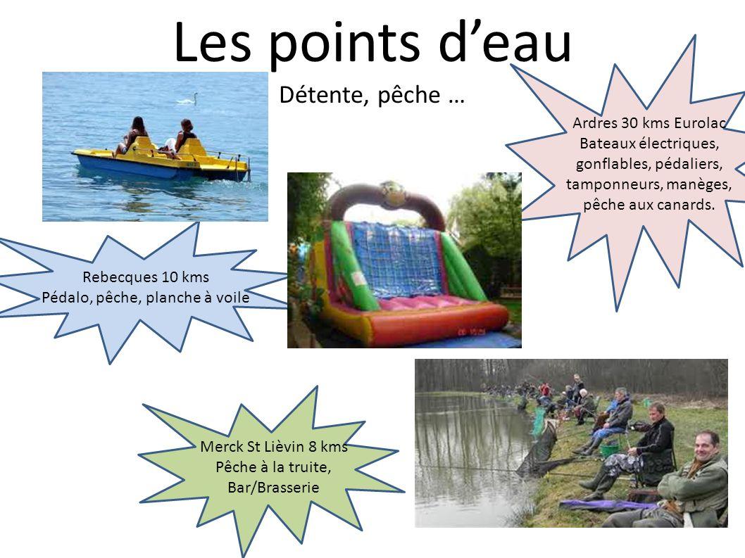 Les points d'eau Détente, pêche … Ardres 30 kms Eurolac