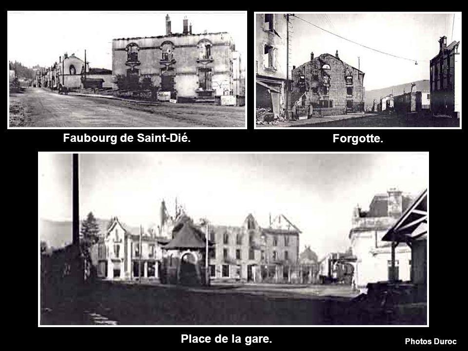 Faubourg de Saint-Dié. Forgotte. Place de la gare.