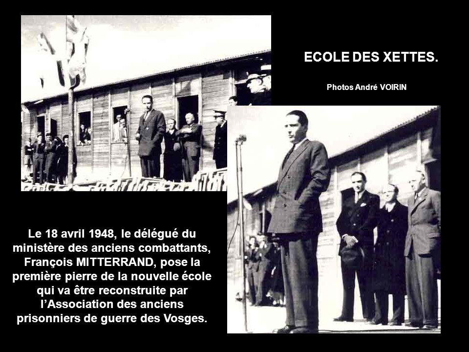 ECOLE DES XETTES. Photos André VOIRIN.