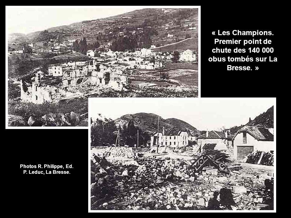 Photos R. Philippe, Ed. P. Leduc, La Bresse.