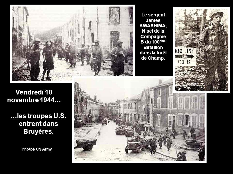 …les troupes U.S. entrent dans Bruyères.