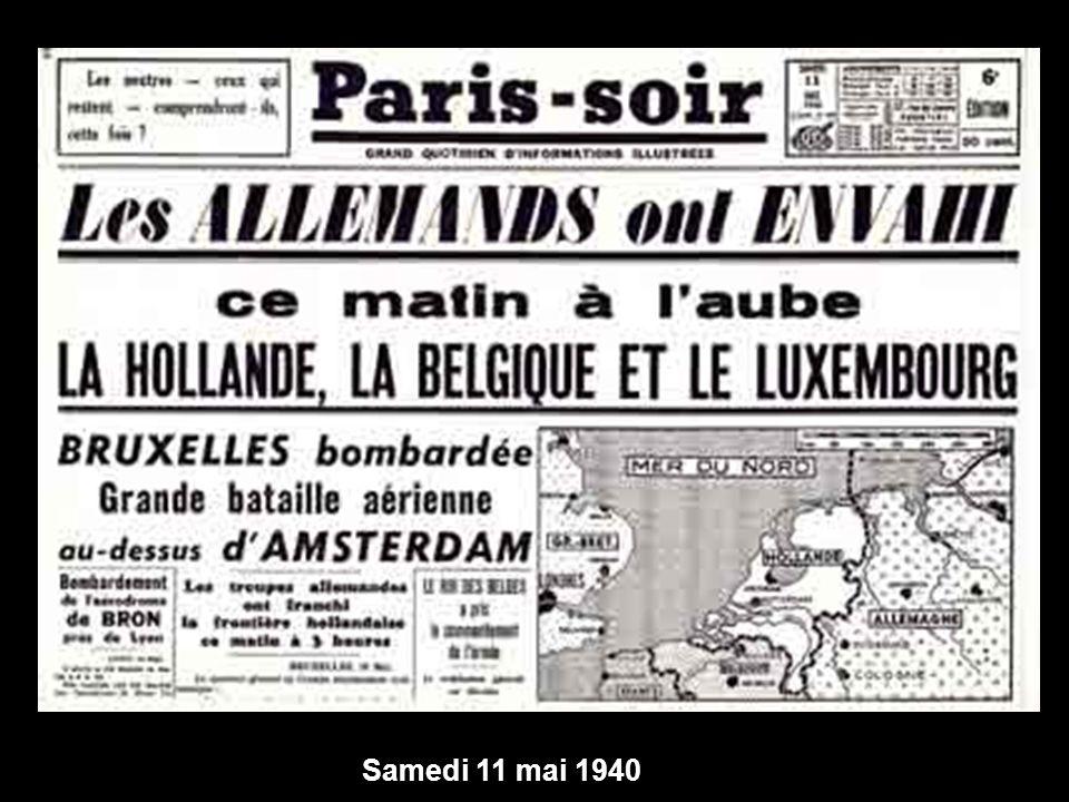 Samedi 11 mai 1940