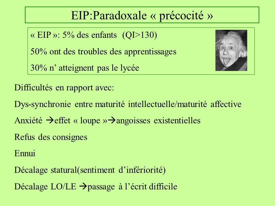 EIP:Paradoxale « précocité »
