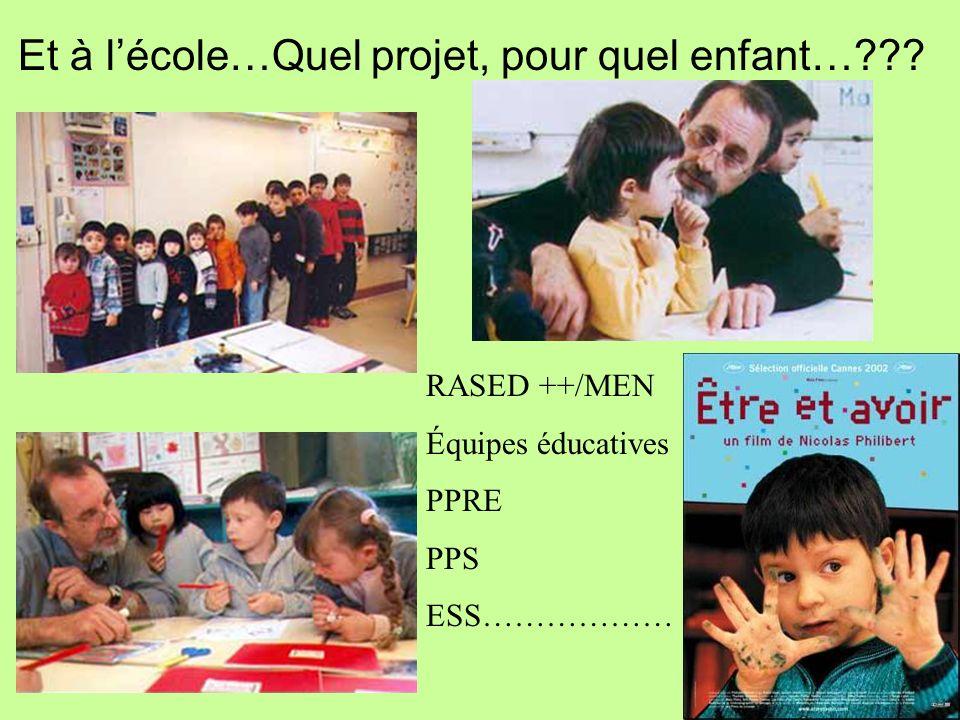 Et à l'école…Quel projet, pour quel enfant…