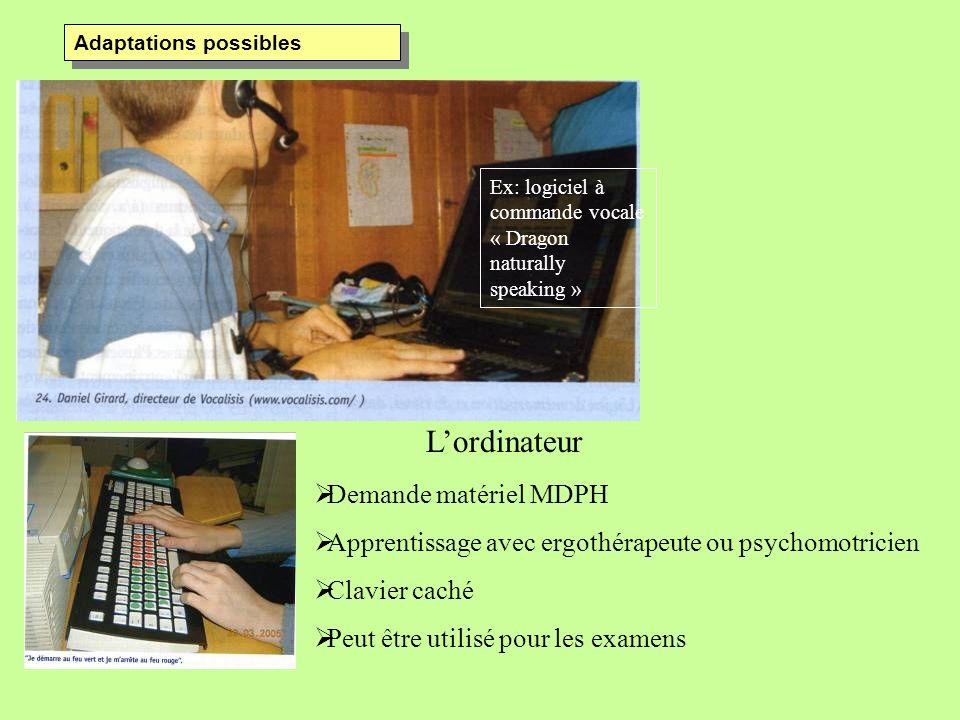 L'ordinateur Demande matériel MDPH