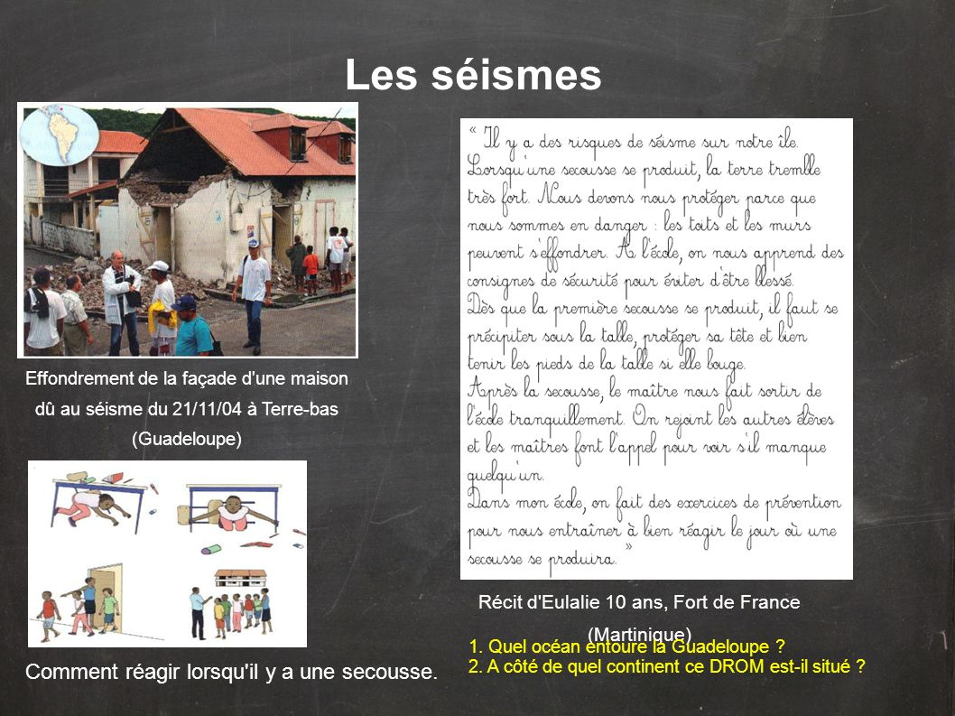 Récit d Eulalie 10 ans, Fort de France (Martinique)