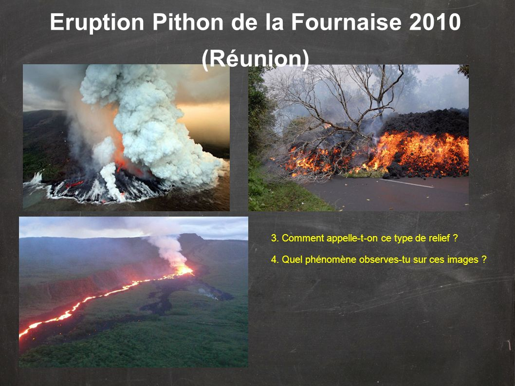 Eruption Pithon de la Fournaise 2010 (Réunion)