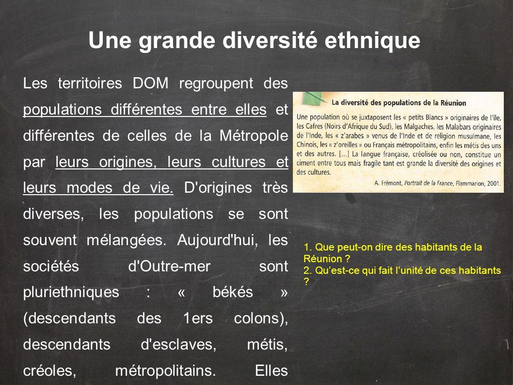 Une grande diversité ethnique
