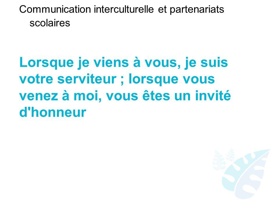 Communication interculturelle et partenariats scolaires