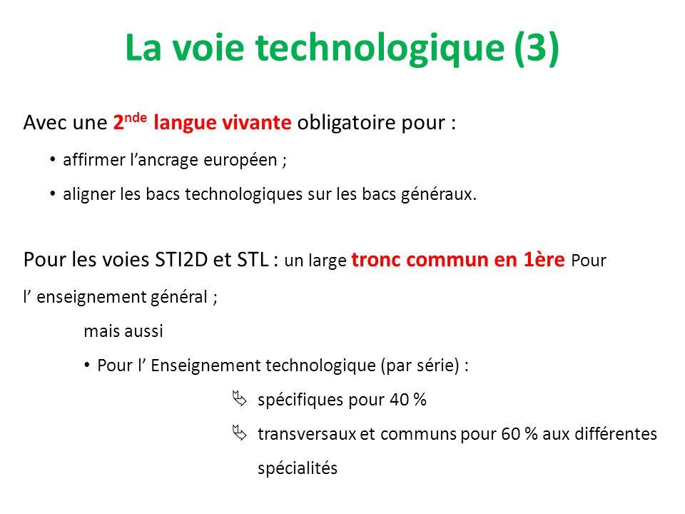 La voie technologique (3)