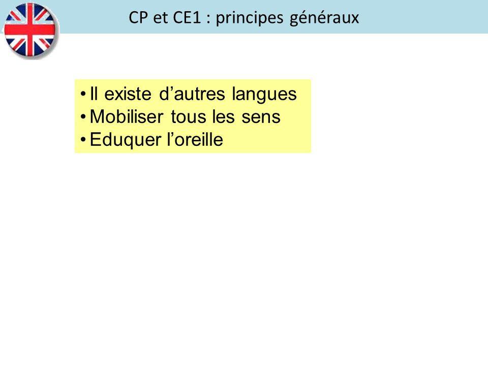 CP et CE1 : principes généraux