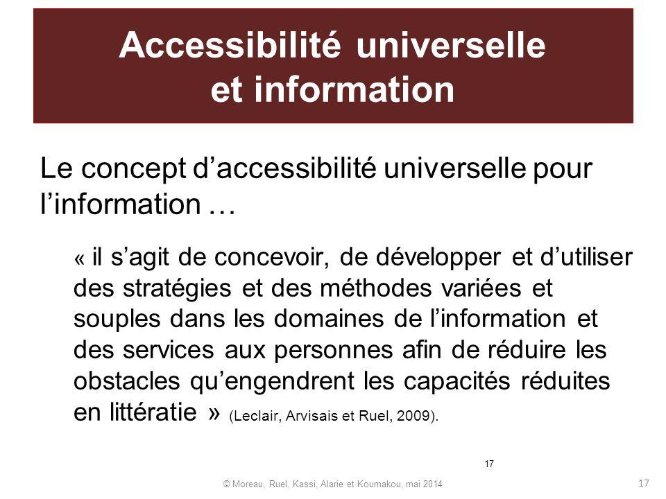 Accessibilité universelle et information