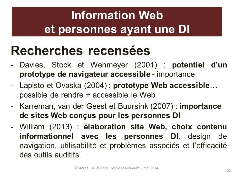 Information Web et personnes ayant une DI