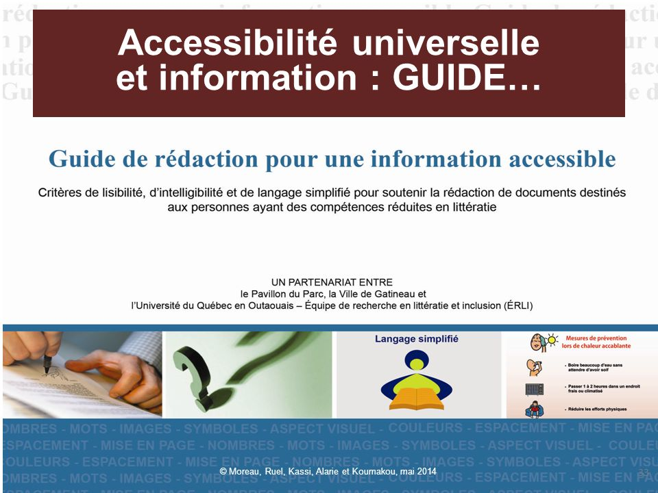 Accessibilité universelle et information : GUIDE…