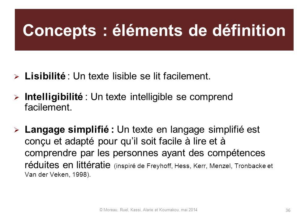 Concepts : éléments de définition