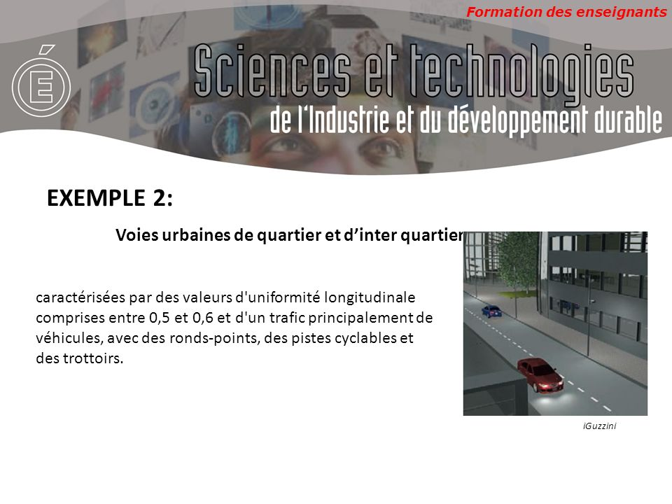 EXEMPLE 2: Voies urbaines de quartier et d'inter quartier
