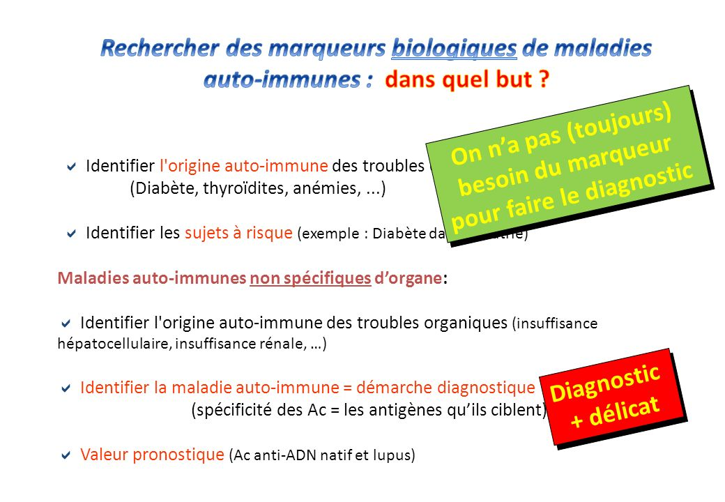 pour faire le diagnostic