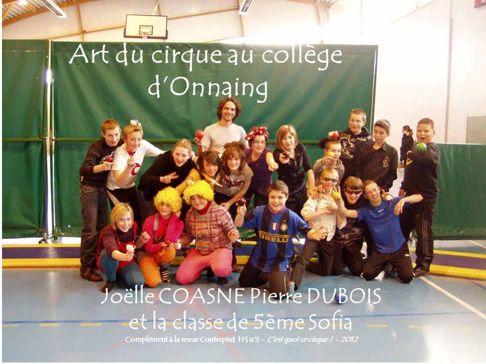 Art du cirque au collège d'Onnaing