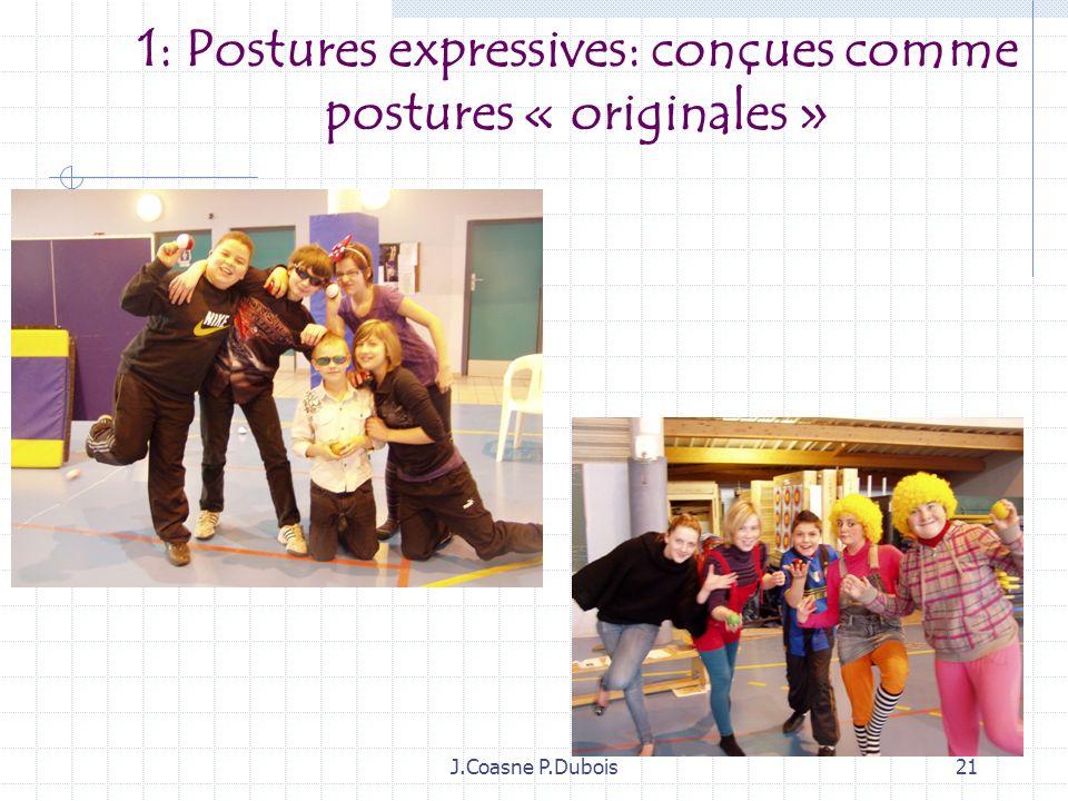 1: Postures expressives: conçues comme postures « originales »