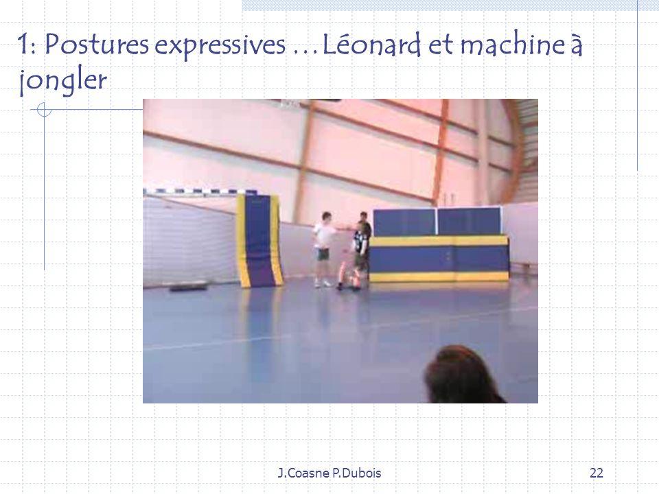 1: Postures expressives …Léonard et machine à jongler